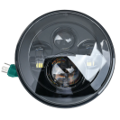 """Universal 7"""" LED Headlight with Hi & Low Beam - IP67 6500K 45W super bright - H4-H13 adapter included"""