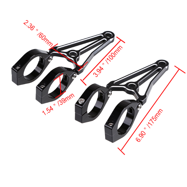 Universal Aluminium Headlight Bracket - 39mm