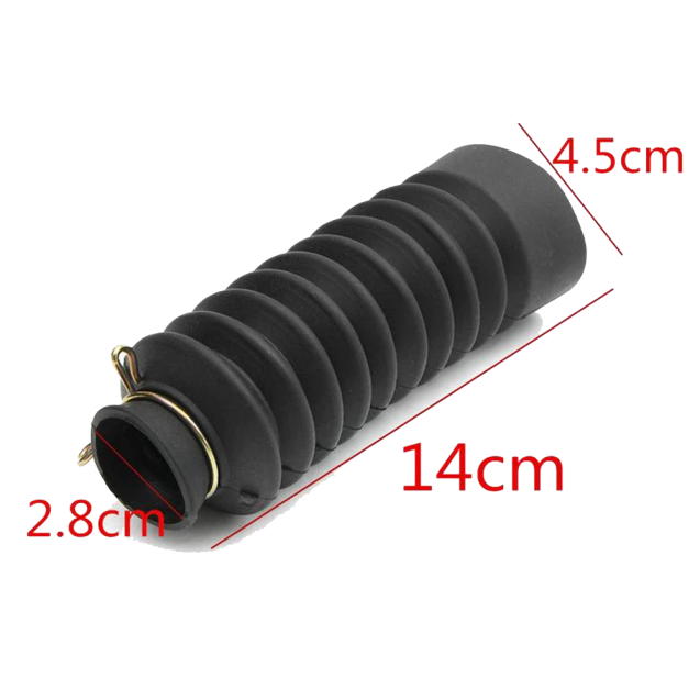 Universal Motorcycle Rubber Fork Cover Gaiters / Boots - 140mm