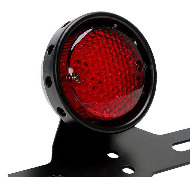 Universal Motorcycle 12V LED Tail Light - Aluminium